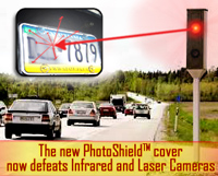 Photoshield cover defeats Infrared and Laser Camers